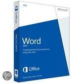 Microsoft Word 2013 - Engels / 32-bit/64-bit / 1 Licentie / Medialess