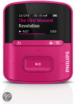 Philips GoGear Raga - MP3 speler - 2 GB - Roze
