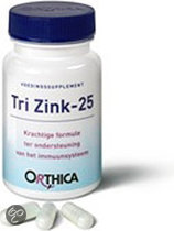 Orthica Tri Zink 25 - 60 Capsules - Mineralen