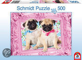 Schmidt Pug and Puglet - Puzzel