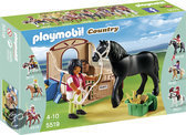 Playmobil Fries paard met paardenbox  - 5519