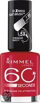 Rimmel 60 seconds finish nailpolish - 318 Cherry Red - Nailpolish