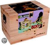 Bblocks in Houten Kist 500-delig