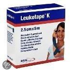 Leukotape K - Elastische Tape - 5 m x 2,5 cm - Blauw