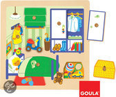 Goula Houten Knopjes Puzzel - Kinderkamer - 7 Stukjes