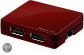 Speedlink, SNAPPY 4 Port USB Hub (Red)