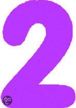 Opblaasbaar Cijfer 2 - Roze