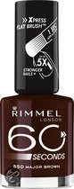 Rimmel 60 seconds finish nailpolish - 550 Iced Brown - Nailpolish