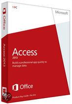Microsoft Access 2013 - Nederlands / 32-bit/64-bit / 1 Licentie / Medialess