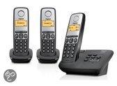 Gigaset A130A - Trio DECT telefoon met antwoordapparaat - Zwart