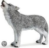Schleich Huilende Wolf Miniatuur