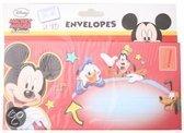 Disney Envelope (10 stuks) 80 gram 18x9 cm mickey mouse