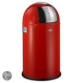 Wesco Pushboy Junior Afvalemmer - 22 l - Rood