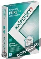 Kaspersky PURE 3-pc 1 jaar OEM directe download versie