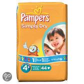 Pampers Simply Dry - Luiers Maat 4+ - Voordeelpak 44st