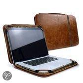 Tuff-Luv Vintage Leren Briefcase Attache Cover for MacBook 13 inch bruin