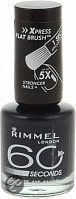 Rimmel 60 Seconds Finish - 850 Blue Marine - Zwart - Nagellak
