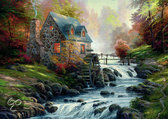 Kinkade Near The Old Mill