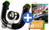 Microsoft Draadloos Racestuur + SEGA Rally + 3 Maanden Xbox Live Gold Xbox 360