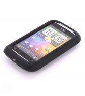 NISGAV Siliconen Case HTC Wildfire S Black