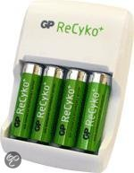 GP ReCyko+ Value Charger AR01 - Battery charger - 4xAA/AAA - included batteries: 4 x AA NiMH 2050 mAh - with 4 x AA NiMH 2100 mAh batteries