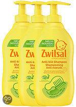 Zwitsal - Shampoo Anti Klit - 3 x 400 ml - Voordeelverpakking
