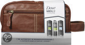 Dove Men+Care Leren Toillettas - 4 delig - Geschenkset
