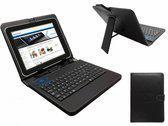 Keyboard Case voor de Iconbit Nettab Parus Quad Mx Nt 0804p, QWERTY Toetsenbordhoes, Zwart, merk i12Cover