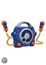 Portable Cd Player + 2 Mic Blue