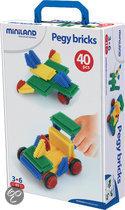Miniland Constructieblokken Pegy Bricks - Bouwstenen
