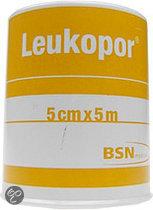 Leukopor - 5 m x 5 cm - Verband