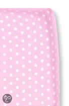 Cottonbaby Stip - Hoeslakentje 60x120 cm - Roze