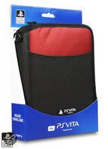 4Gamers Deluxe Draagtas PS Vita Zwart/Rood