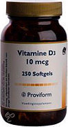 Proviform Vit D 10µ - 250 Softgels  - Vitaminen