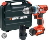 BLACK+DECKER Accuboormachine EGBL108KB - 10,8V 1,3 Ah Li-Ion - Ultra Compact - Incl. 2e accu