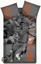 KNVB Aanvalluh Dekbedovertrek - Oranje - 1-persoons - 140x200