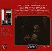 Beethoven: Symphony no 2, Brahms: Violin Concerto / Mitropoulos et al