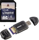 Benza - Kingston Security Digital (SD) Card/Kaart SDHC 32GB Class 4 (Inc. USB SD/SDHC Kaartlezer) Geheugenkaarten