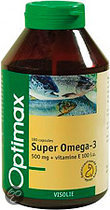 Optimax Super Omega-3 500 mg + E 100 Capsules 180 st