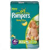 Pampers Baby Dry - Luiers Maat 4+ - Voordeelpak 42st