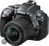 Nikon D5300 + AF-S DX 18-55 VR II - Spiegelreflexcamera - Antraciet