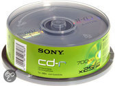 Sony CD-R 80min/700MB 48x 25 stuks op spindel