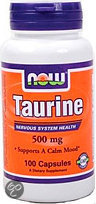Now Taurine 500 mg Capsules 100 st