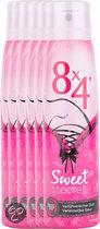 8x4 Sweet Secret - 150 ml - Deodorant - 6 st - Voordeelverpakking