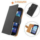 TCC Luxe hoesje Samsung Galaxy Note 3 Neo Book Case Flip Cover N7505 - Zwart