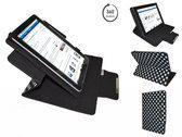 Cnm Touchpad 7dc 16 Diamond Class Polkadot Hoes met 360 graden Multi-stand, Zwart, merk i12Cover