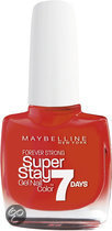 Maybelline SuperStay/Forever Strong - 490 Hot Salsa - Rood - Nagellak