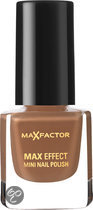 Max Factor Max Effect - 21 Soft Toffee - Bruin - Mini Nagellak