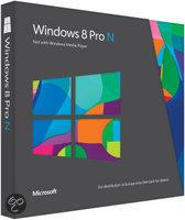 Microsoft Win Pro N 8 - Engels / 32-bit/64-bit / Upgrade / 1 Licentie