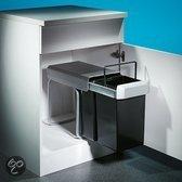 Inbouw afvalemmer Wesco Double 30 liter